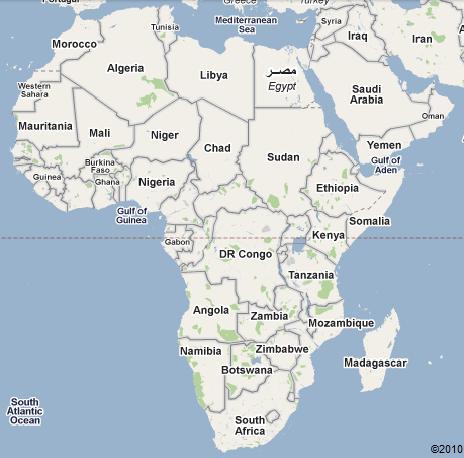 africa map big